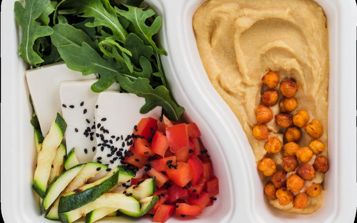 Pudełko diety wegetariańskiej bez laktozy